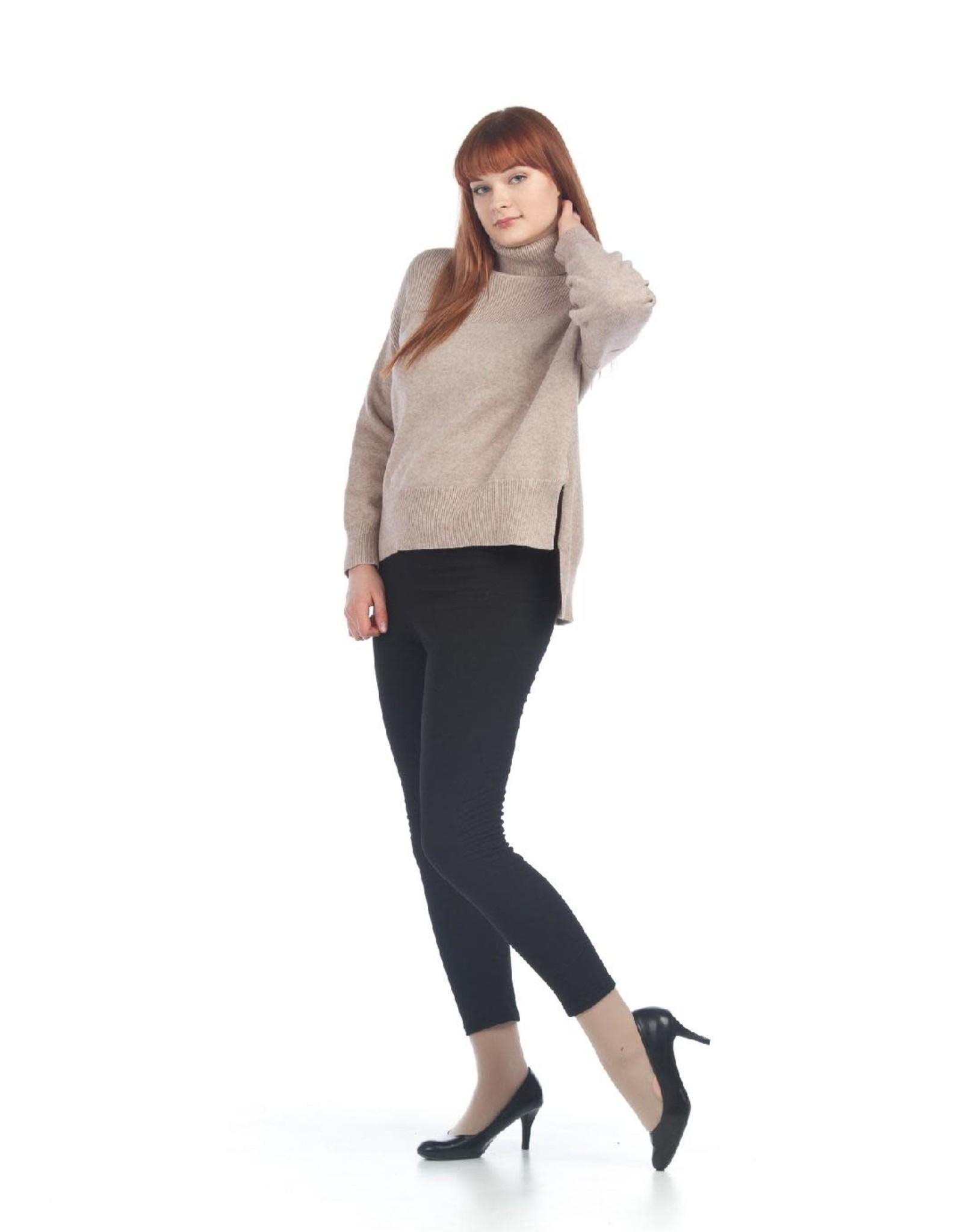 Medium Ribbed Knit Sweater with Step hem