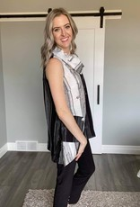 Colour Contrast Tunic With Pockets