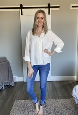 V-Front Opening Blouse
