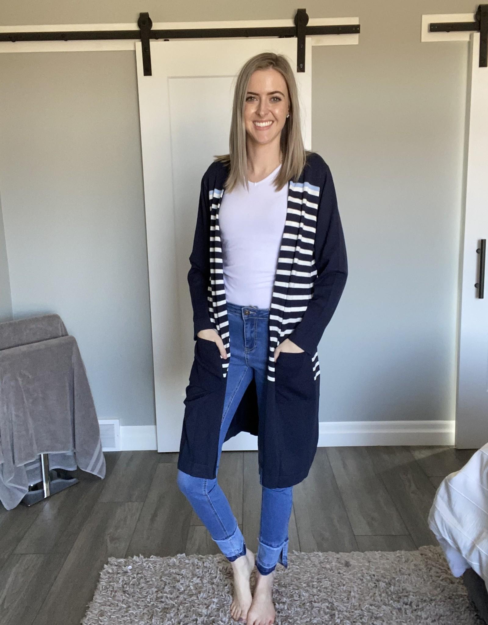 Blue striped Cardigan