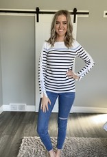 Striped Sweater with Sleeve Detail
