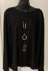 Rope Style -Interlocking Drop Hoop Necklace