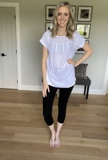 Small White Tee with Pleat Details