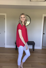 Bamboo High Low Round Neck Top