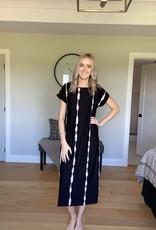 Capped Sleeve Maxi Dress