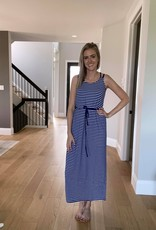 Striped Dress w Criss Cross Back
