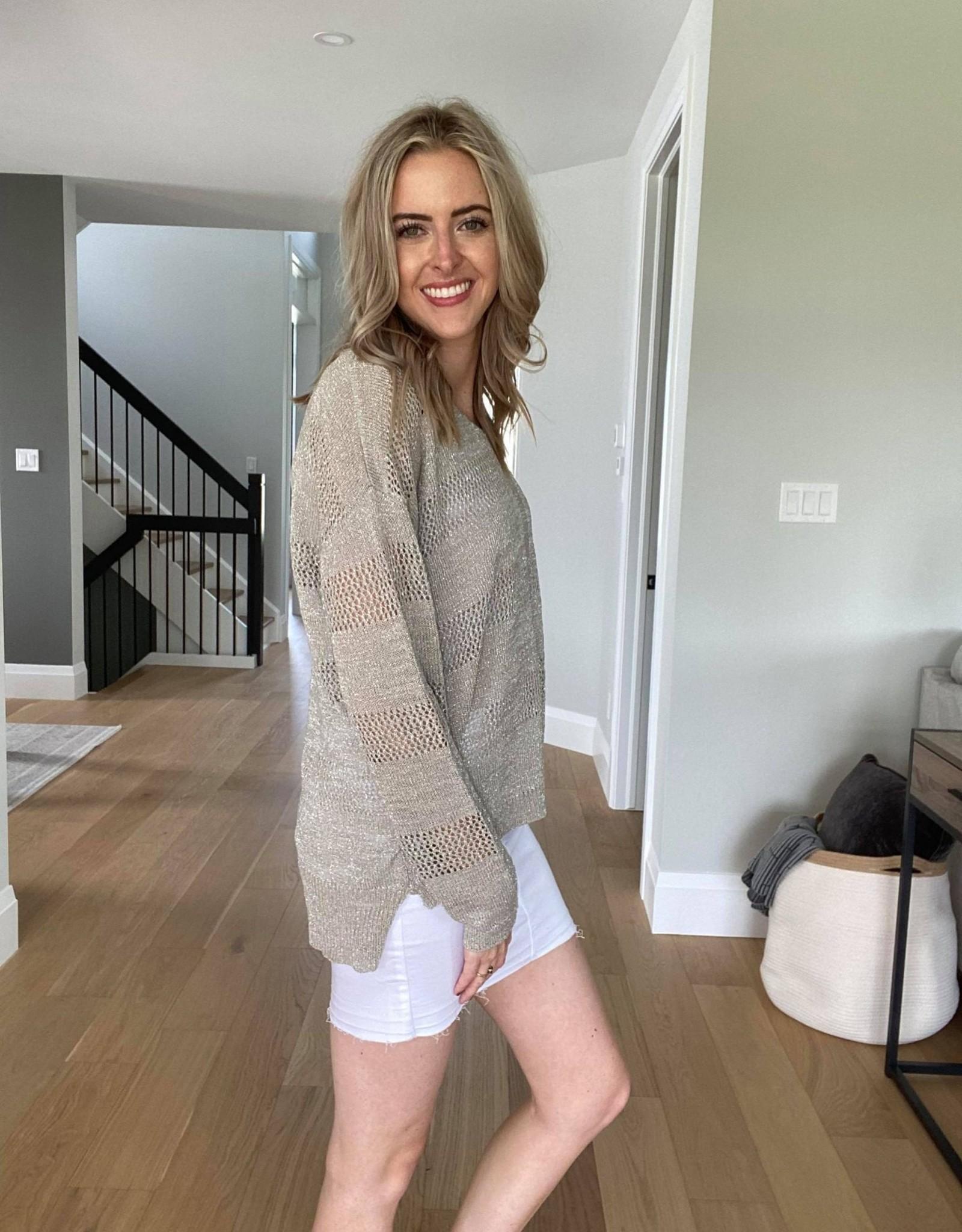 Lightweight Hi-Lo Sweater w Lurex