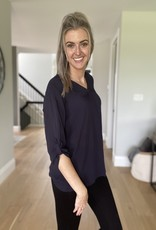 Lightweight blouse with Tab Sleeve