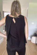 Small Split Back Sleeveless Top