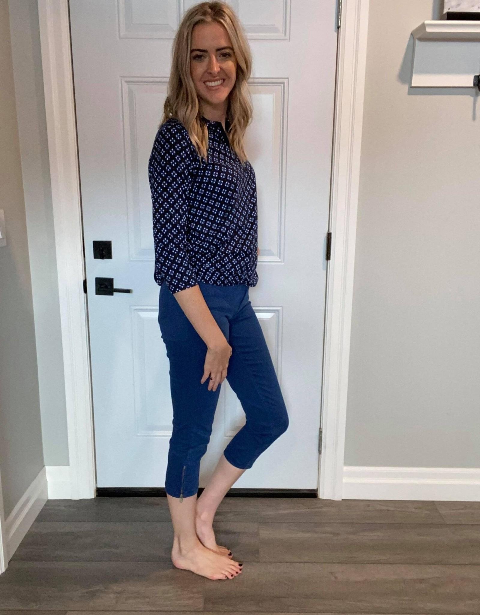Stretch Summer Jeans w Zip Bottoms