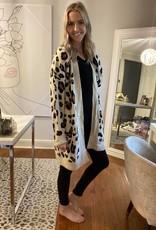 Knit Leopard Cardigan w Patch