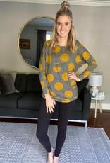 Stripe & Dot Oversized Sweatshirt