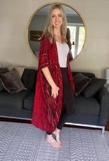 Tie Dye Kimono w Inside Pockets