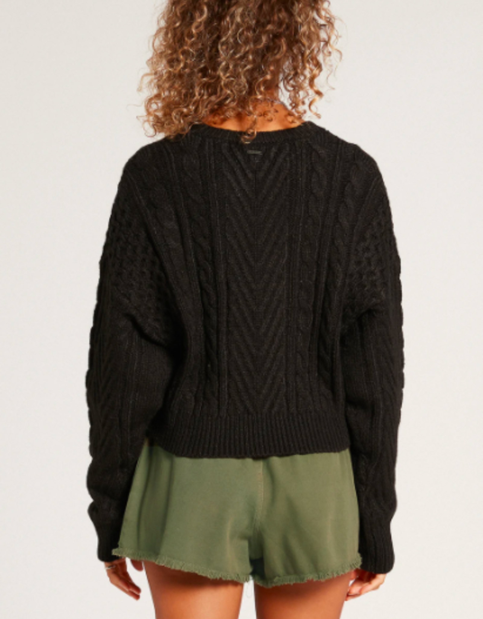 Volcom Women's Cabled Babe Sweater