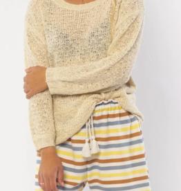 Sisster Women's Beachwalker Long Sleeve Knit Sweater