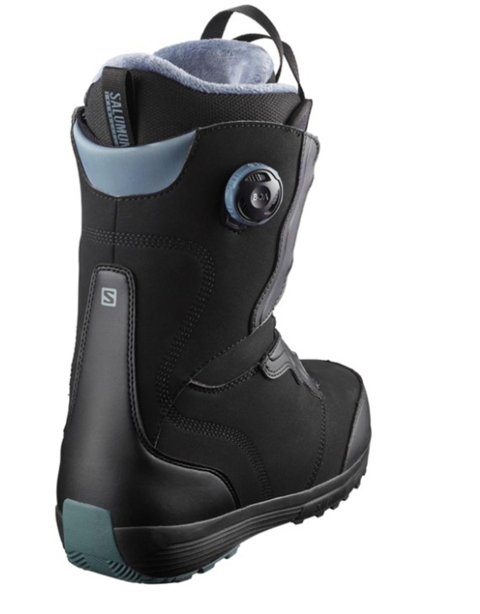 Salomon Women's Ivy SJ Boa Snowboard Boots Black/Stormy Weather 2022