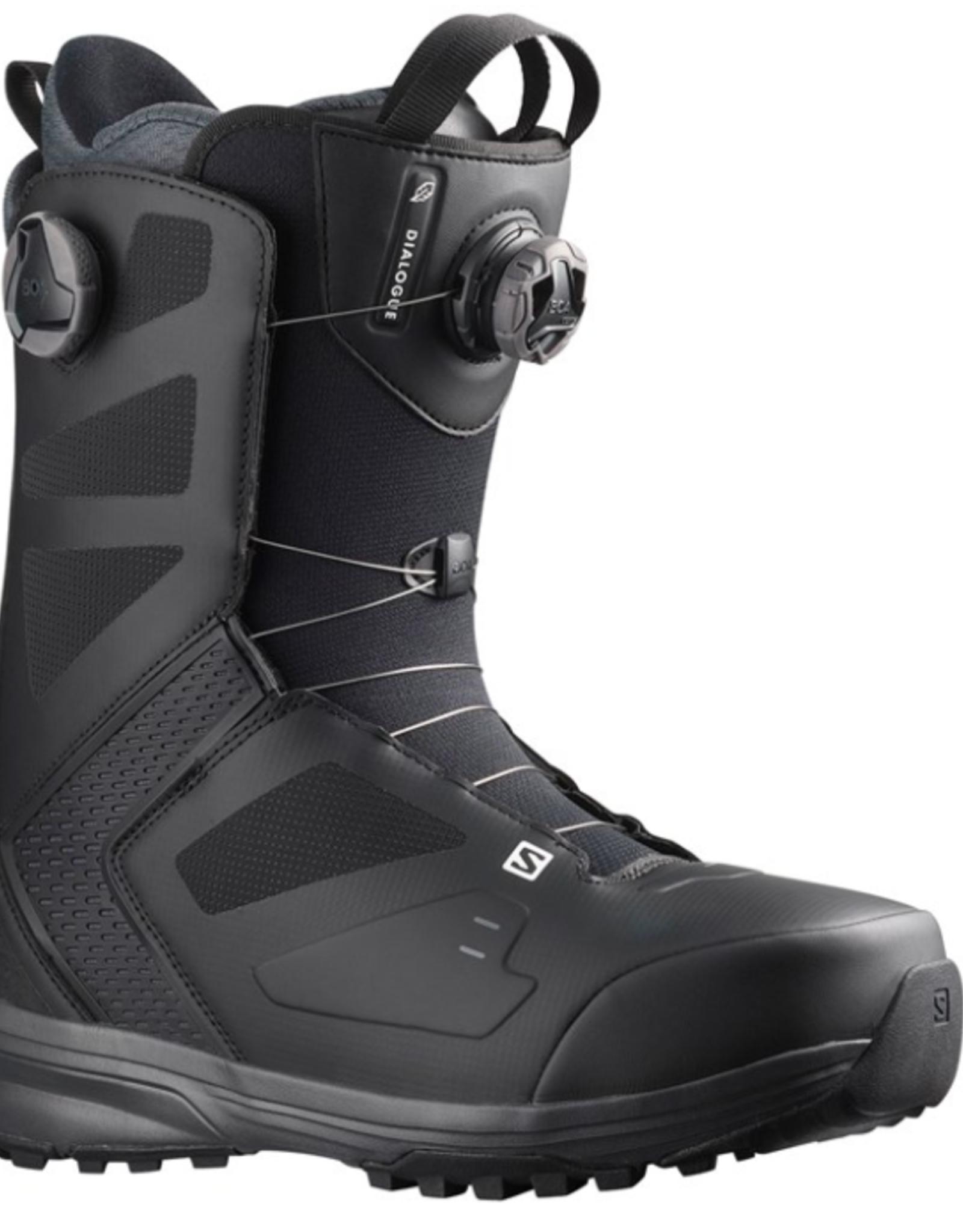 Salomon Men's Dialogue Dual Boa Wide Snowboard Boots Black 2022
