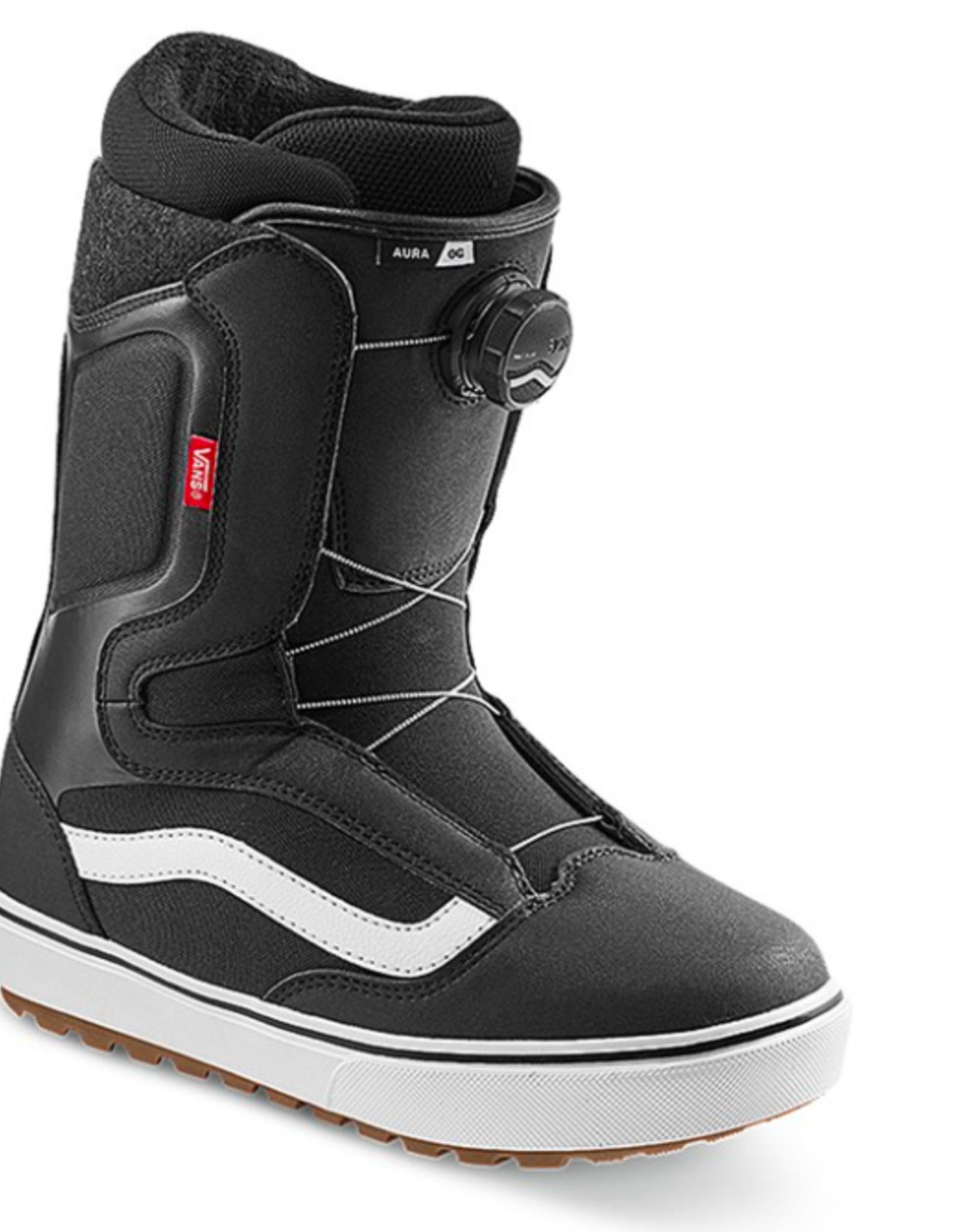 Vans Men's Aura OG Snowboard Boots Black/White 2022