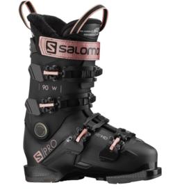 Salomon Women's Alp S/Pro 90 GW Ski Boots Black/Rose/Bell 2022