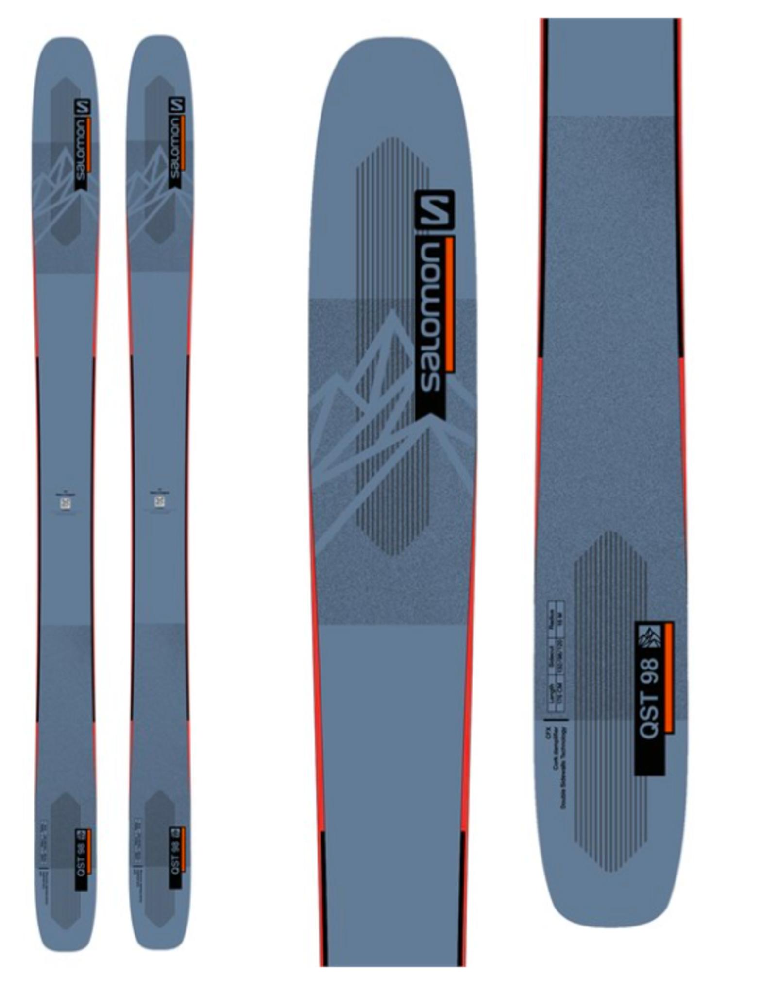 Salomon Men's QST 98 Skis Blue/Orange 2022
