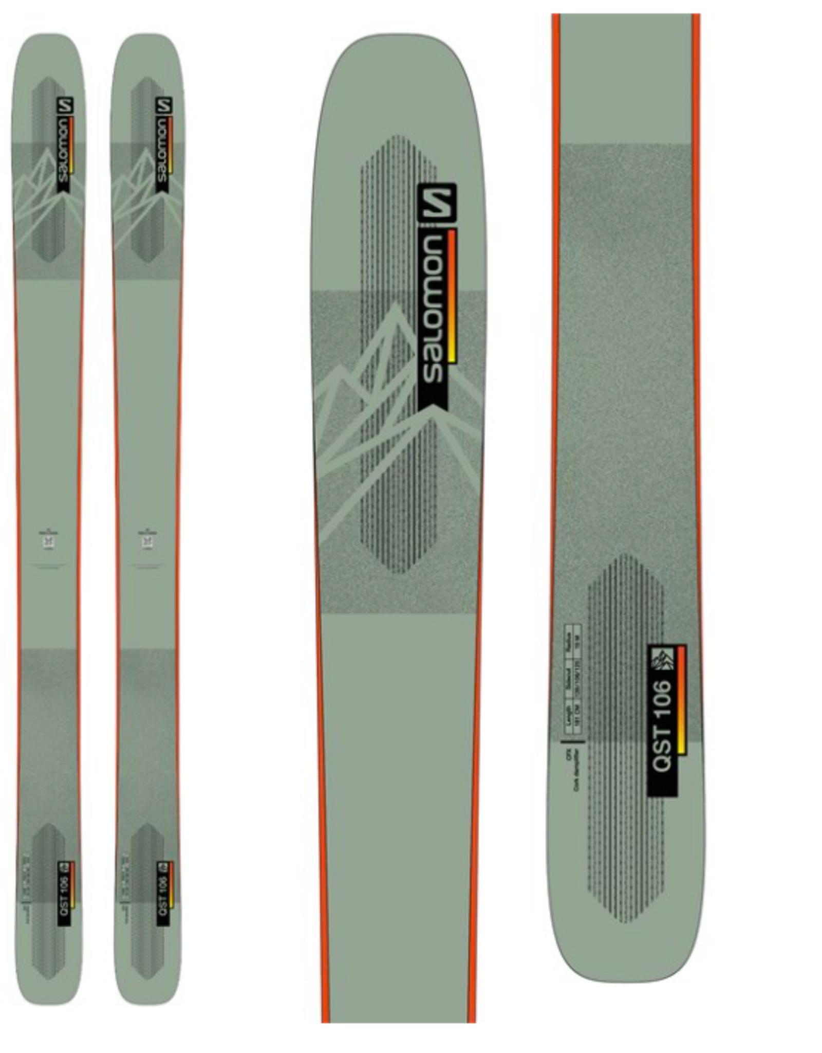 Salomon Men's QST 106 Skis Oil Green/Orange 2022