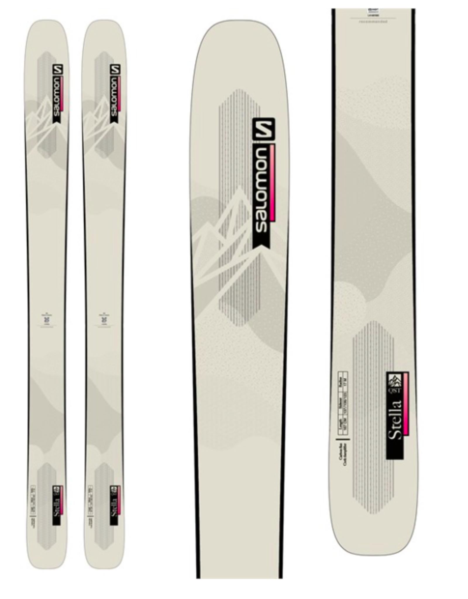 Salomon Women's QST Stella 106 Skis Beige/Pink 2022
