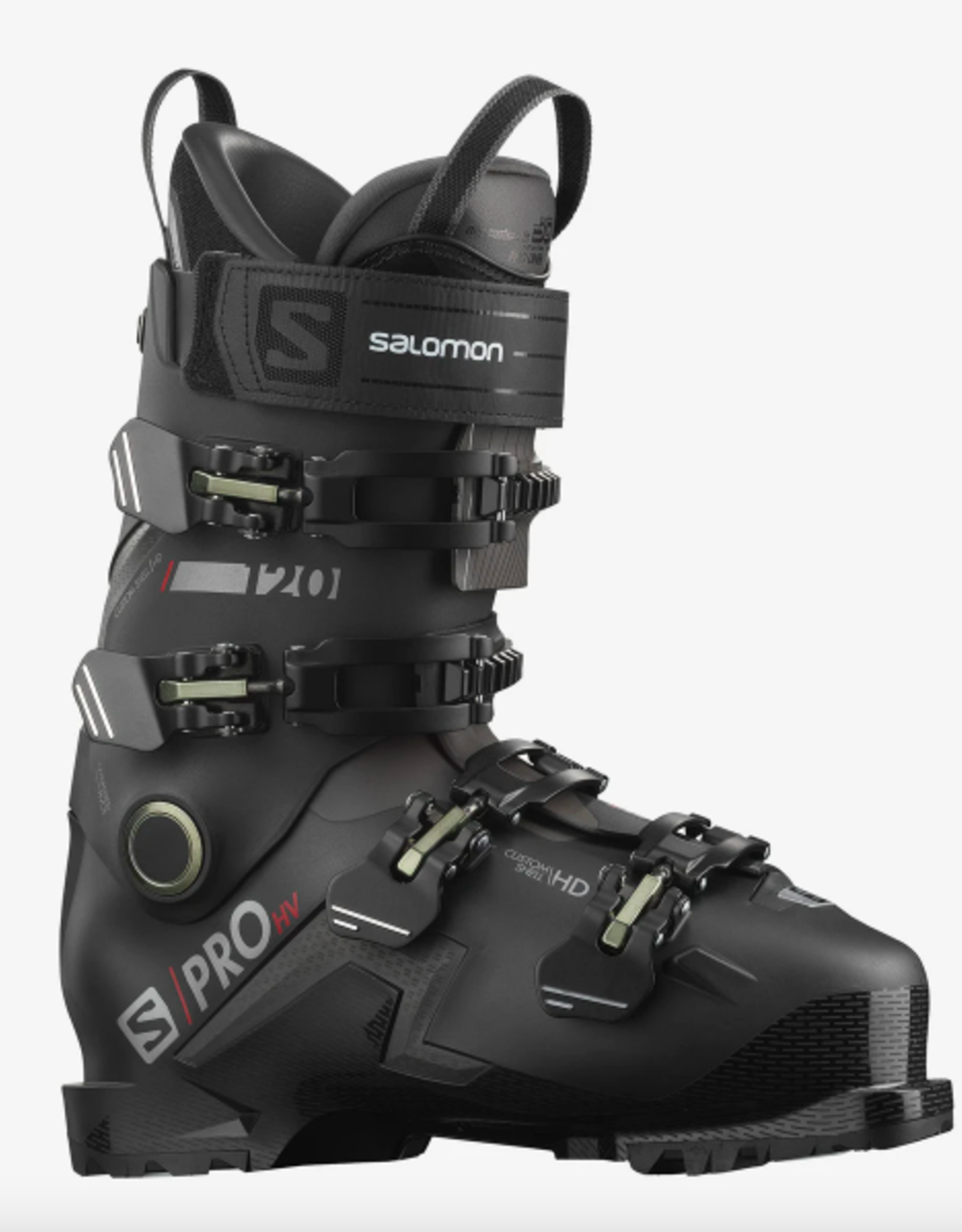 Salomon Men's S/Pro HV 120 GW Ski Boots Black/Red/Belluga 2022