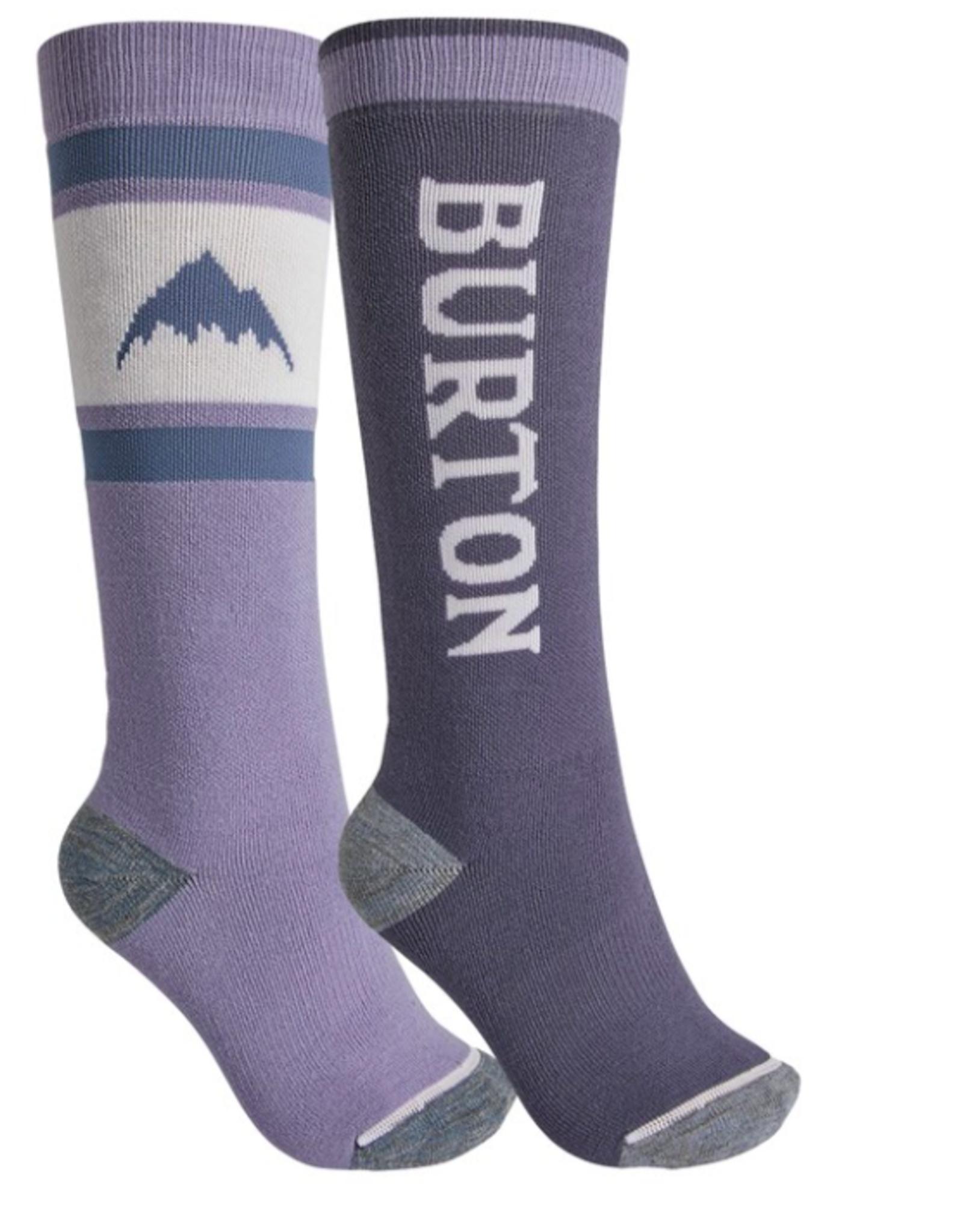 BURTON Burton Women's Weekend Midweight Socks 2 Pack Foxglove Violet/Folkstone Gray 2022