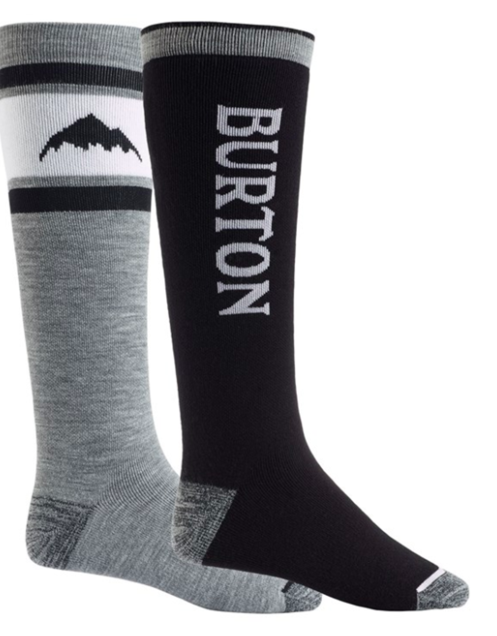 BURTON Burton Men's Weekend Midweight Socks 2 Pack True Black 2022