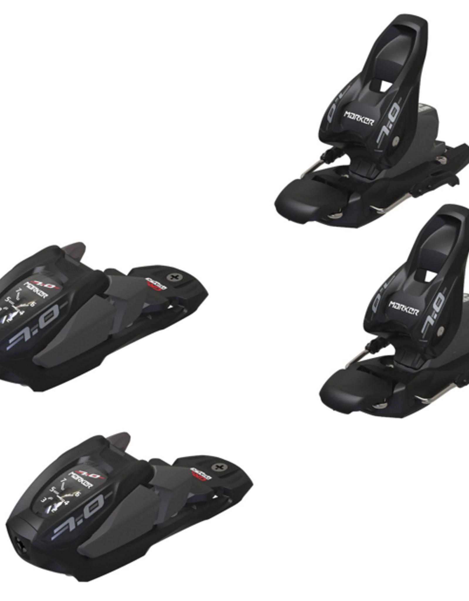 Marker 7.0 Ski Bindings Black/Anthracite 2022