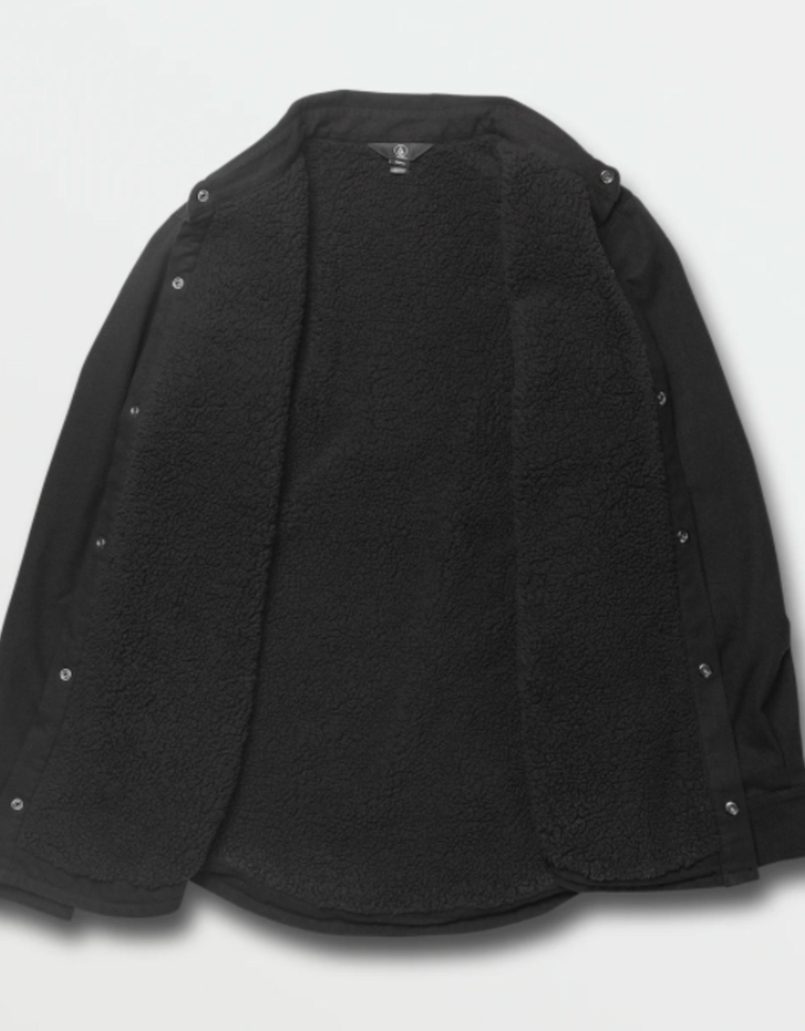 Volcom Men's Sherpa Flannel Jacket BKB