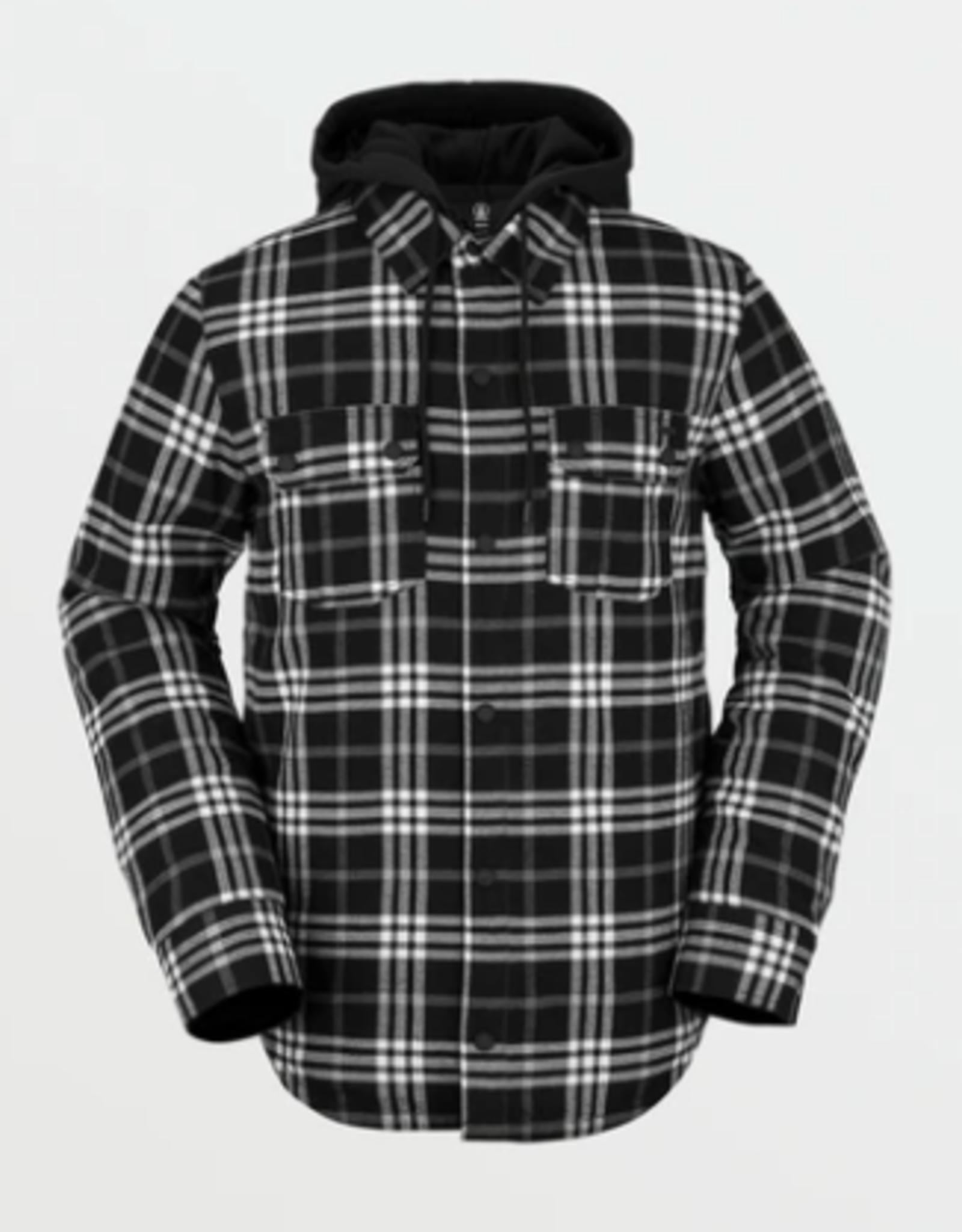 Volcom Men's Field Insulated Flannel Jacket BLK