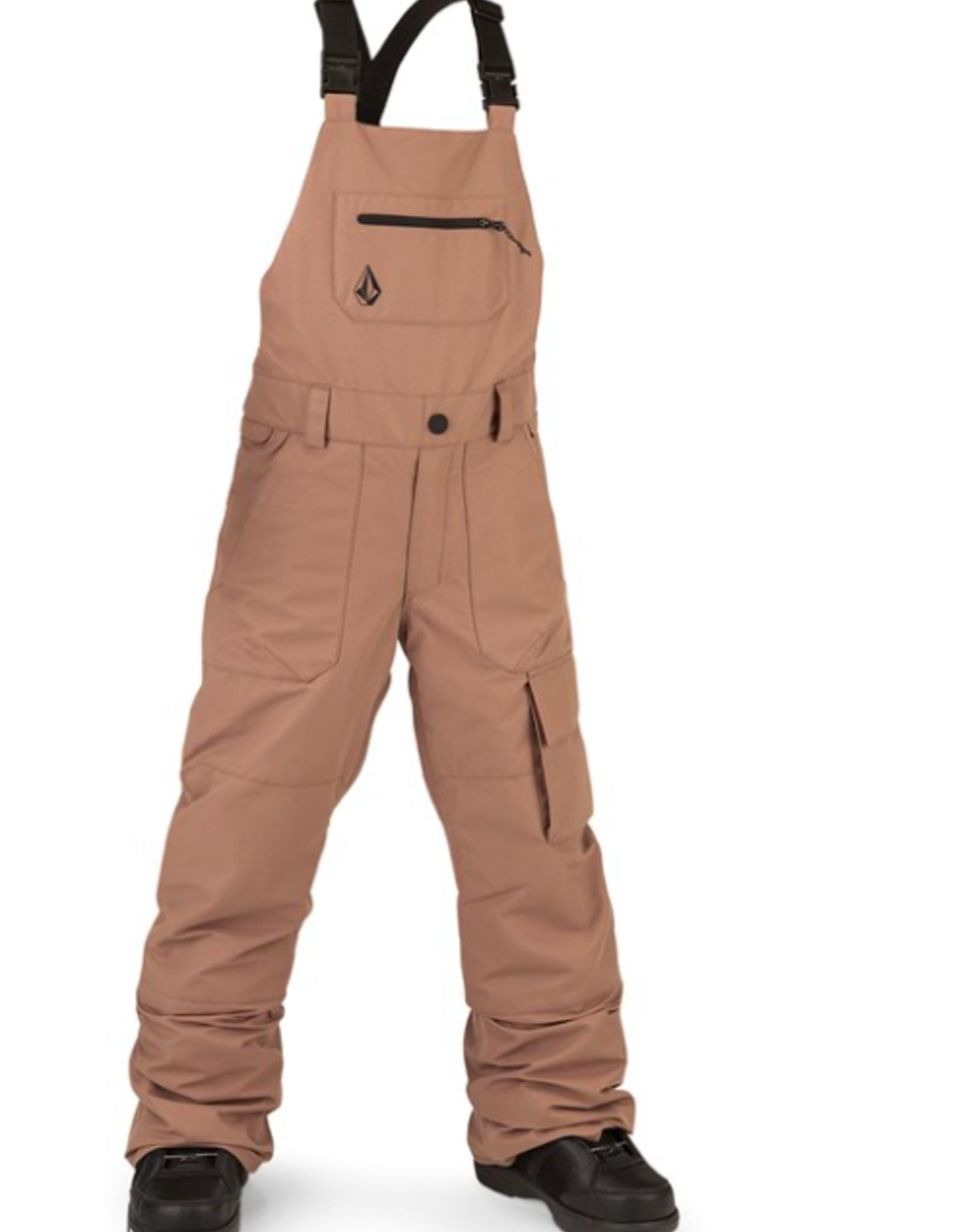 Volcom Kid's Barkley Bib Overall Pants Coffee 2022