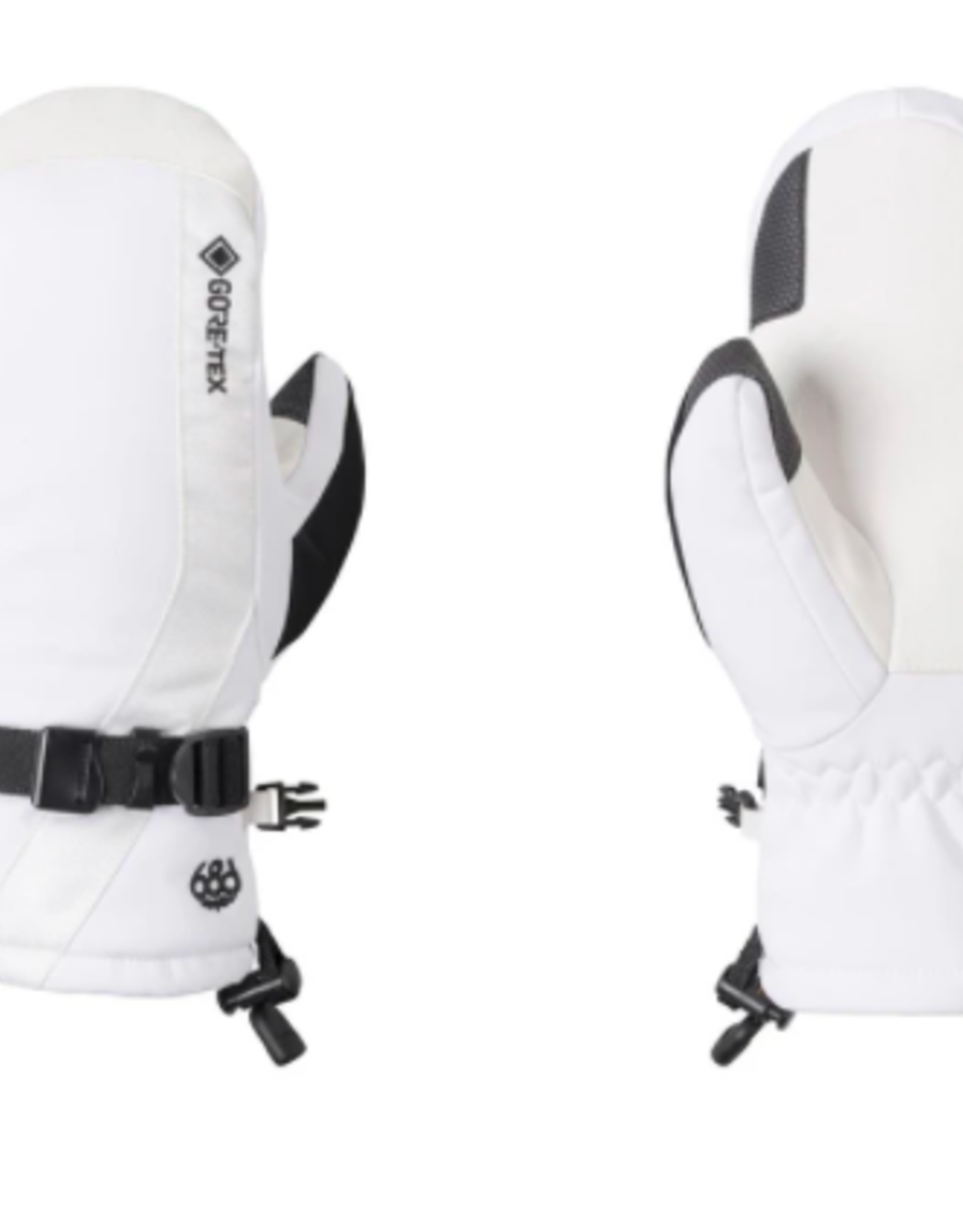 686 Women's Gore-Tex Linear Mitts White 2022