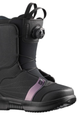 Salomon Women's Pearl Boa Snowboard Boots Black/Black/Royal Lilac 2022