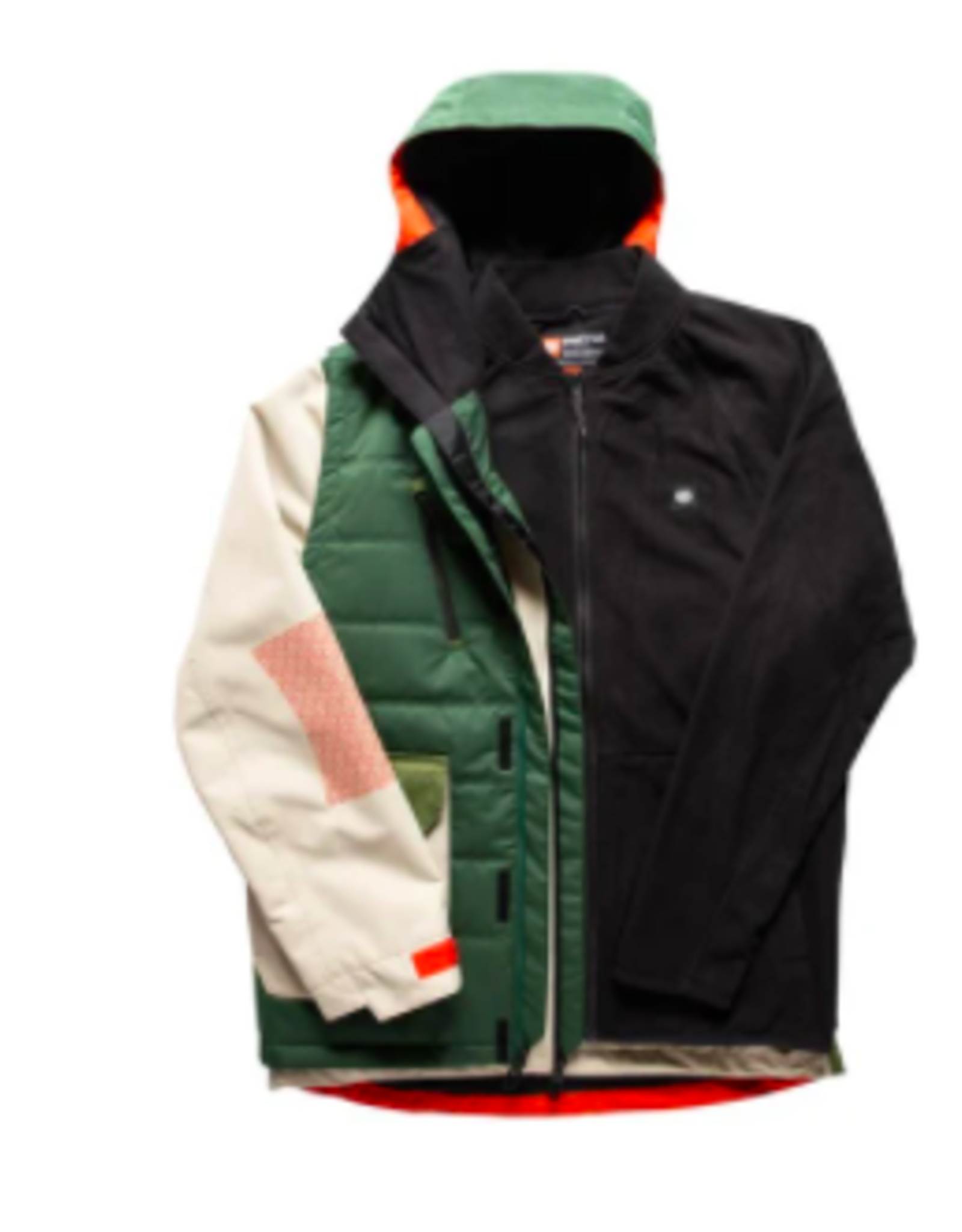 686 Men's Smarty 5-In-1 Complete Jacket Putty Colorblock 2022