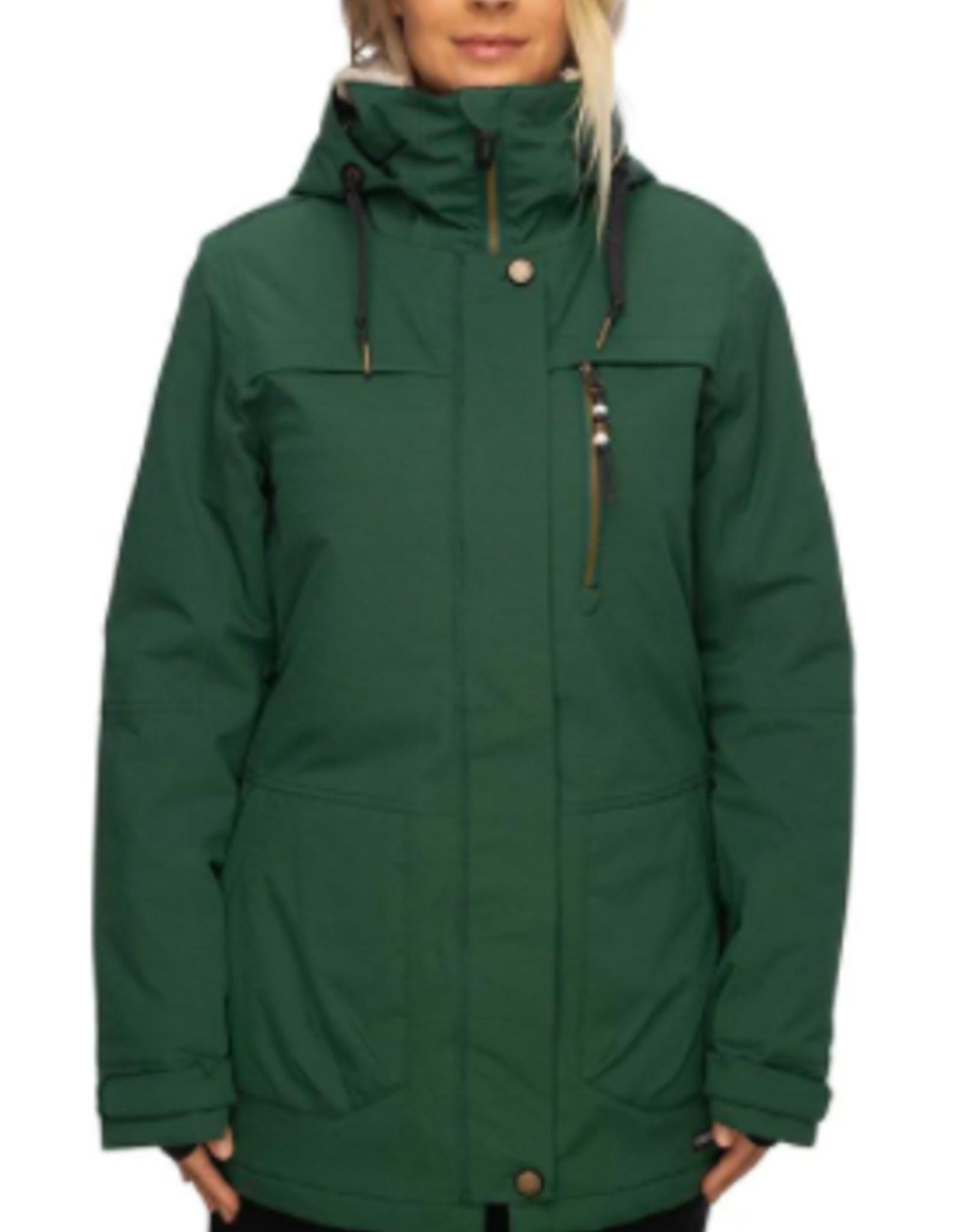 686 Women's Spirit Insulated Jacket Pine Green Geo Jacquard 2022