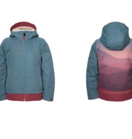 686 Girl's Daisy Insulated Jacket Goblin Blue Mountain Sunset 2022