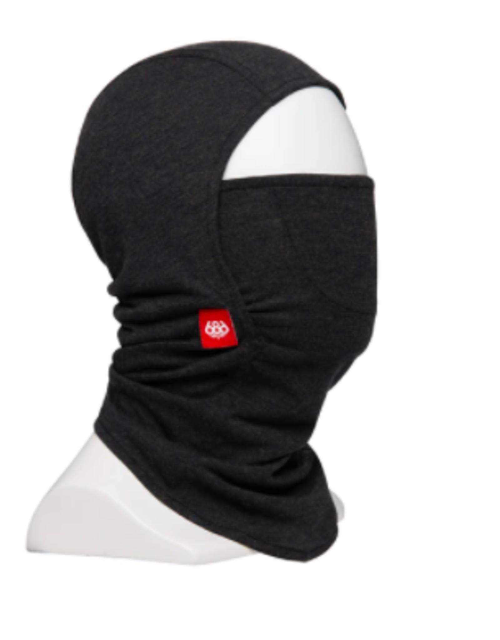 686 Deluxe Hinged Merino Balaclava Face Mask Black Heather 2022