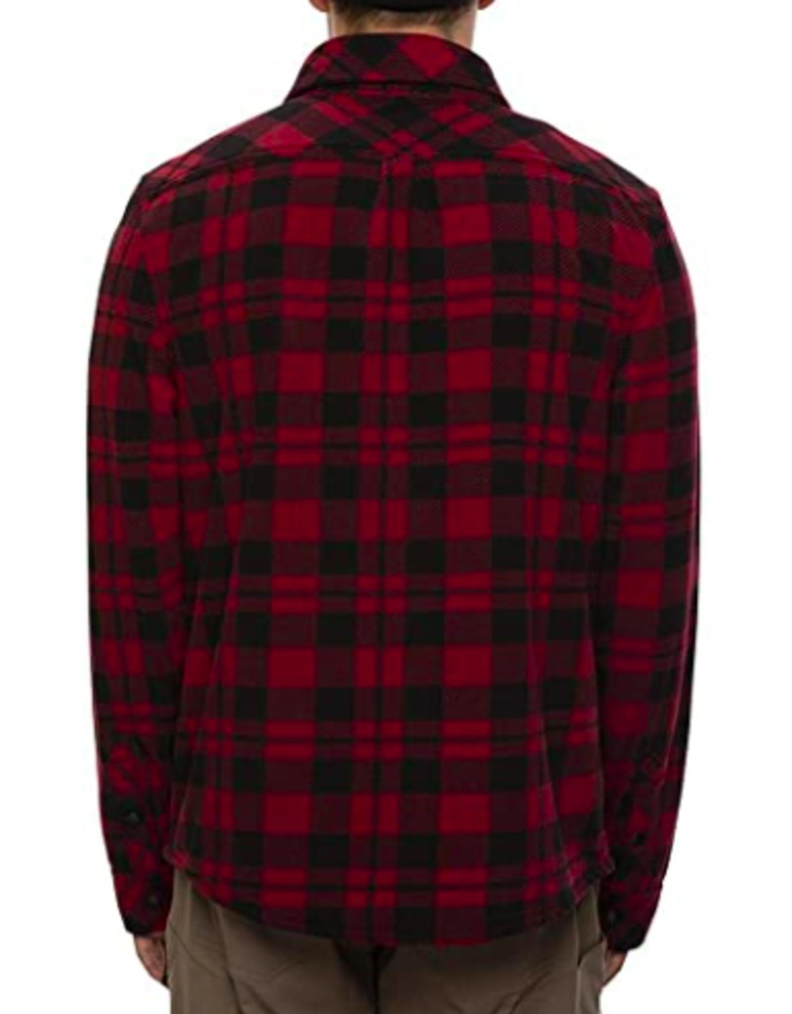 686 Men's Sierra Fleece Flannel Oxblood Plaid