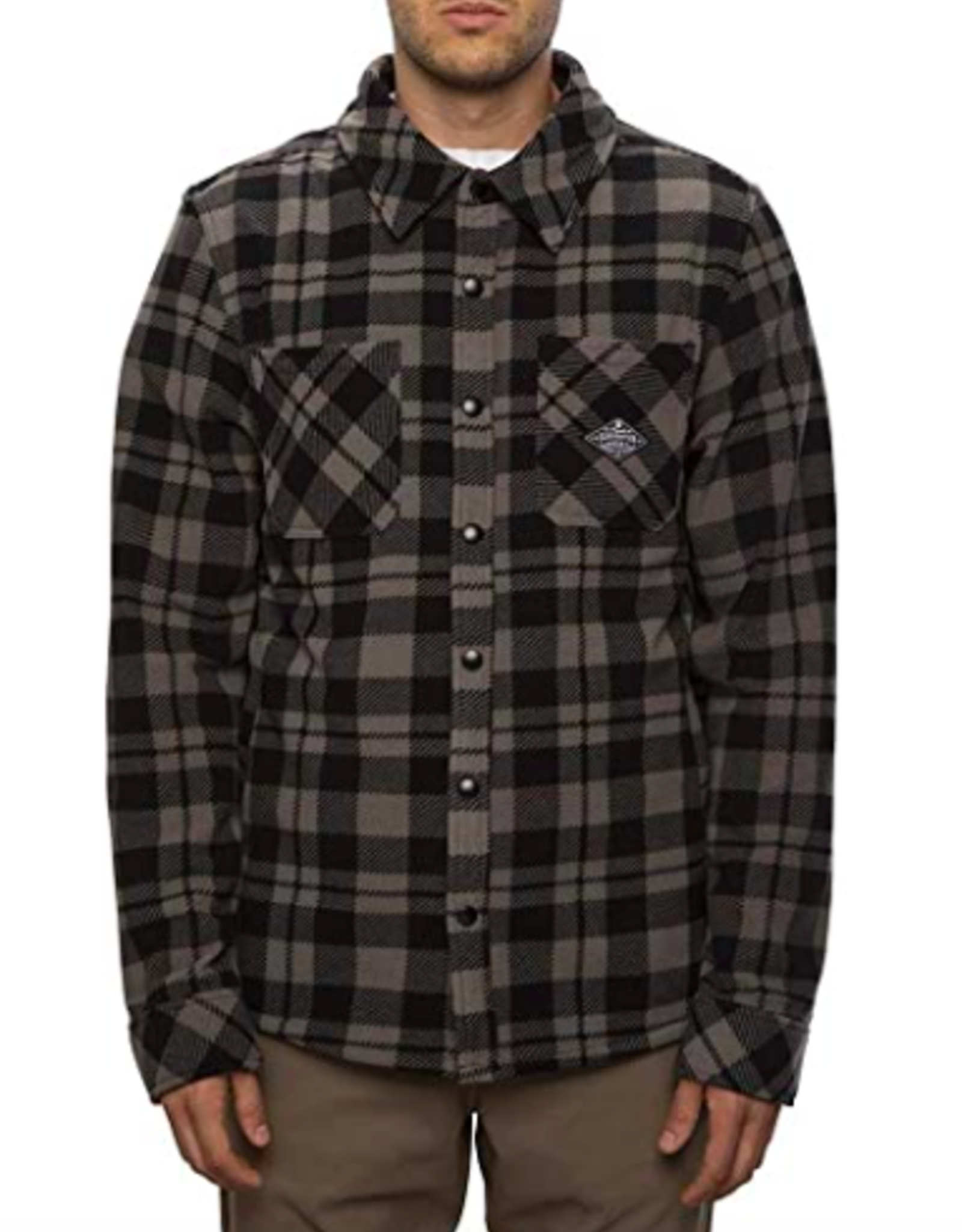 686 Men's Sierra Fleece Flannel Charcoal Plaid
