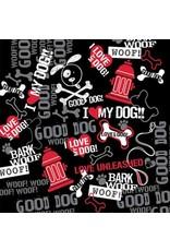 The Bandanna Co. Bandanna Co. Bark Woof Woof 22'' X 22''