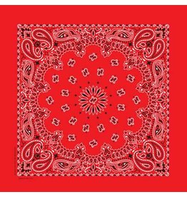 The Bandanna Co. Bandanna Co. Paisley Red 22'' X 22''