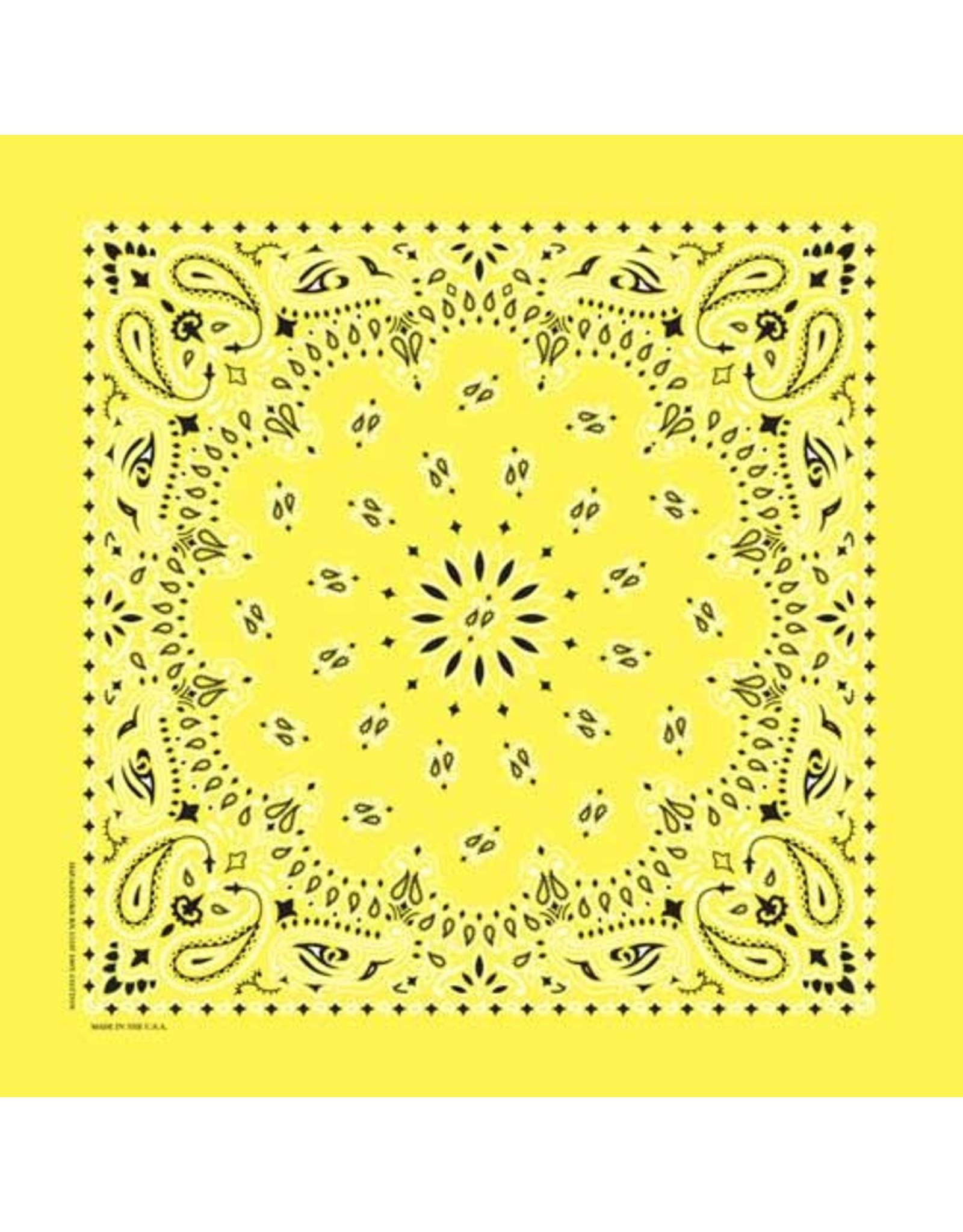 The Bandanna Co. Bandanna Co. Paisley Yellow 22'' X 22''