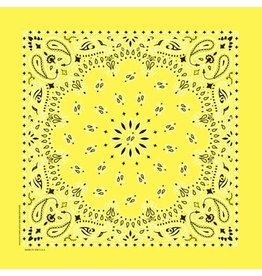 The Bandanna Co. Bandanna Co. Paisley Yellow 22'' X 22''