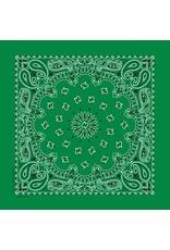 The Bandanna Co. Bandanna Co. Paisley Kelly Green 22'' X 22''