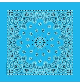 The Bandanna Co. Bandanna Co. Paisley Light Blue 22'' X 22''