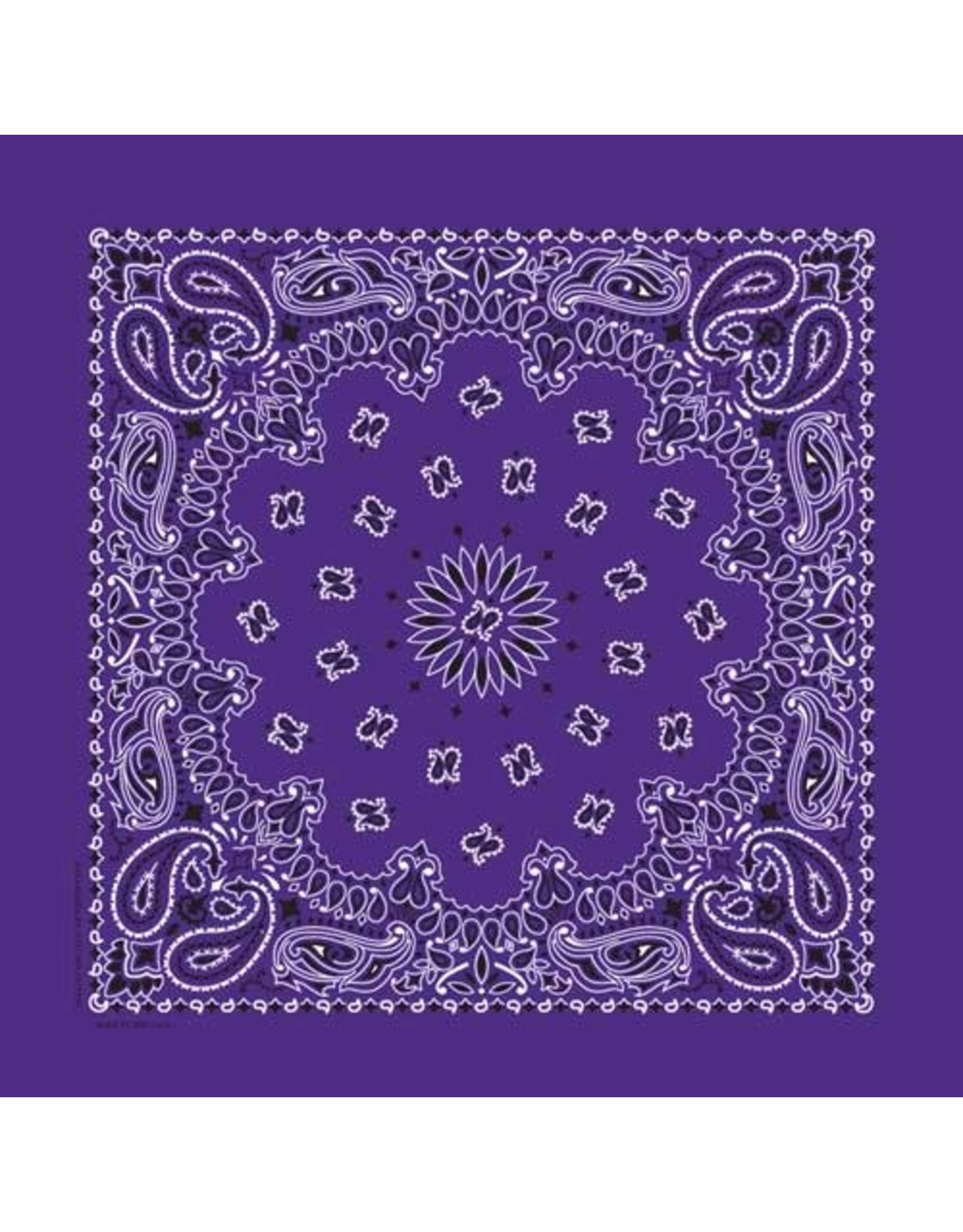 The Bandanna Co. Bandanna Co. Paisley Purple 22'' X 22''