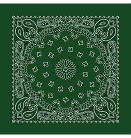 The Bandanna Co. Bandanna Co. Paisley Hunter Green 22'' X 22''