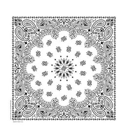 The Bandanna Co. Bandanna Co. Paisley White 22'' X 22''